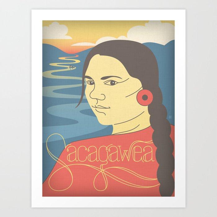 Sacagawea Portrait Art Print