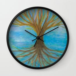 Tree of Life floating in sea of time Wall Clock