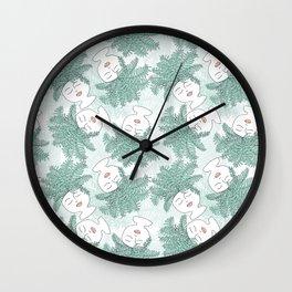 Fern-tastic Girls in Sage Green Wall Clock