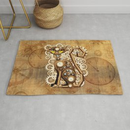 Steampunk Cat Vintage Style Rug