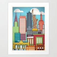 Touristique - New York Art Print