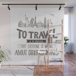 To Travel is to Discover Wall Mural
