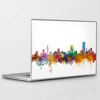 south africa Laptop & iPad Skins featuring Pretoria South Africa Skyline by artPause