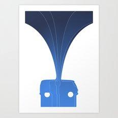 Silhouette Racers - Volkswagen Bus Art Print