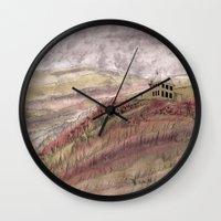 jamaica Wall Clocks featuring Walking, Jamaica Inn by Emily Kumori