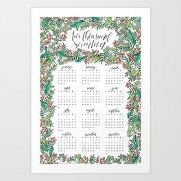 2017 Wall Calendar Art Print