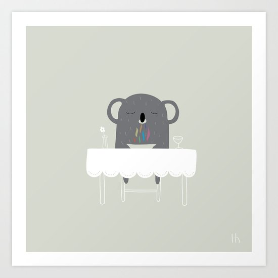 The Happy Dinner Art Print
