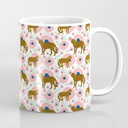 Cheetahs in Flowers Coffee Mug