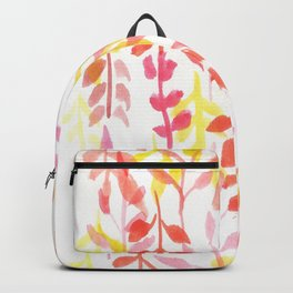 170814 Leaves Watercolour 8 Backpack