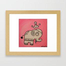 Elephant King Framed Art Print