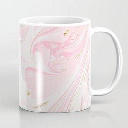 Modern faux gold glitter pastel pink elegant marble Coffee Mug