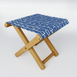 Blue Jazz Triangles Folding Stool