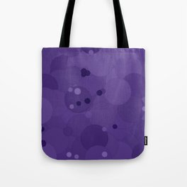 Gentian Violet Bubble Dot Color Accent Tote Bag