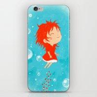 ponyo iPhone & iPod Skins featuring Ponyo by Peerro