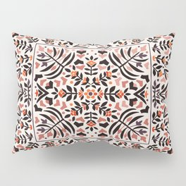 N153 - Floral Bohemian Traditional Moroccan Style Illustration Pillow Sham