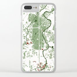 Berlin city map minimal Clear iPhone Case