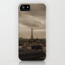 Rooftop view of Paris iPhone Case
