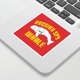 Russian Spy Whale Sticker