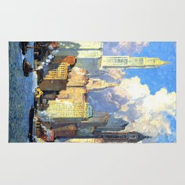 Hudson River Waterfront - Colin Campbell Cooper Rug