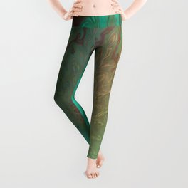 Green Glass eye Leggings