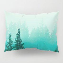 Fog Foggy Samish Forest Woods Mountain Northwest Washington Landscape Pillow Sham