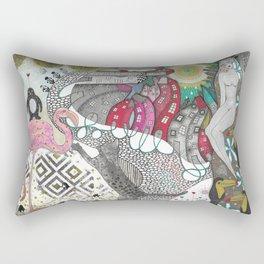 """""""Flamingo""""  Illustrated print Rectangular Pillow"""