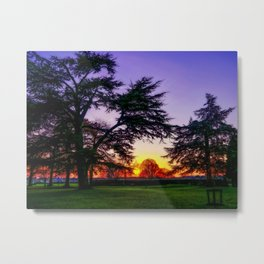 Sunset landscape Metal Print