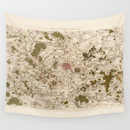 Carte de France (1756) Wall Tapestry