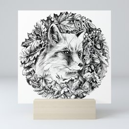 "Autumn fox. From the series ""Seasons"" Mini Art Print"