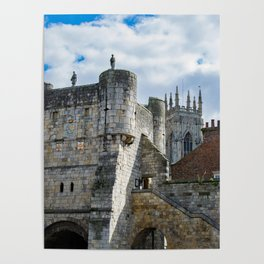 York Minster and Bootham Bar Poster