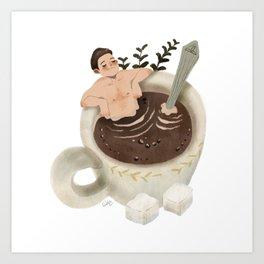 Coffee Spa Art Print