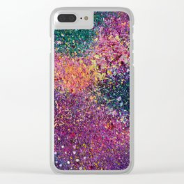 Purple Galaxy Clear iPhone Case