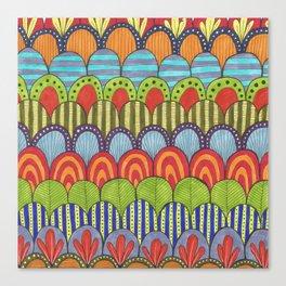 bright scalloped pattern 2 Canvas Print