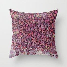 pink Veronica butterflies aflutter Throw Pillow