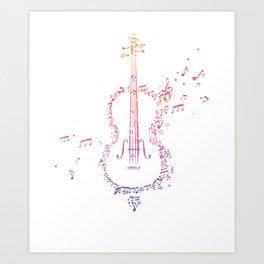 Cello Beauty Melody Art Print
