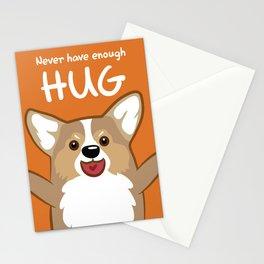 Hug Corgi Stationery Cards