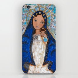 La Virgen de la Caridad del Cobre by Flor Larios iPhone Skin