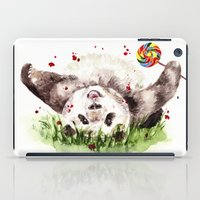 panda iPad Cases featuring Panda by Anna Shell