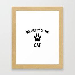 Property of my cat Framed Art Print