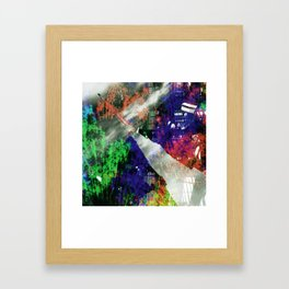fissure disguised as fixture Framed Art Print