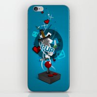 gaming iPhone & iPod Skins featuring I ❤ GAMING by Mikhail St-Denis