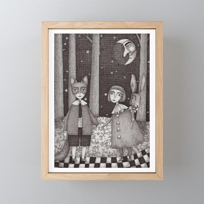 Hansel and Gretel Framed Mini Art Print