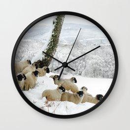 Sheltering Flock Wall Clock