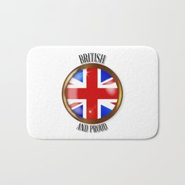 British Proud Flag Button Bath Mat