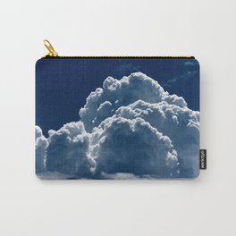 Puffy Cumulus clouds on Deep Blue Sky Carry-All Pouch