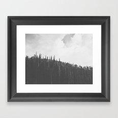 First snow of the season - Brian Head, Utah 9/22/13 Framed Art Print