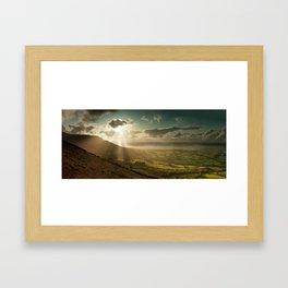 Cribyn Sunburst Framed Art Print