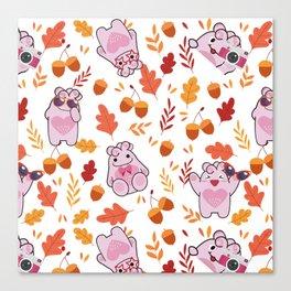 Sakura Fall Pattern Canvas Print