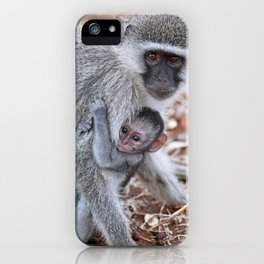 Mom and me, Africa wildlife iPhone Case