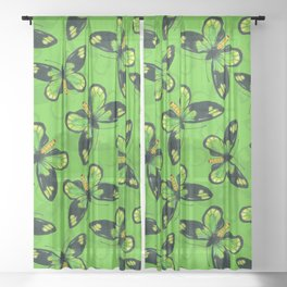 Queen Victoria' s birdwing butterfly Sheer Curtain